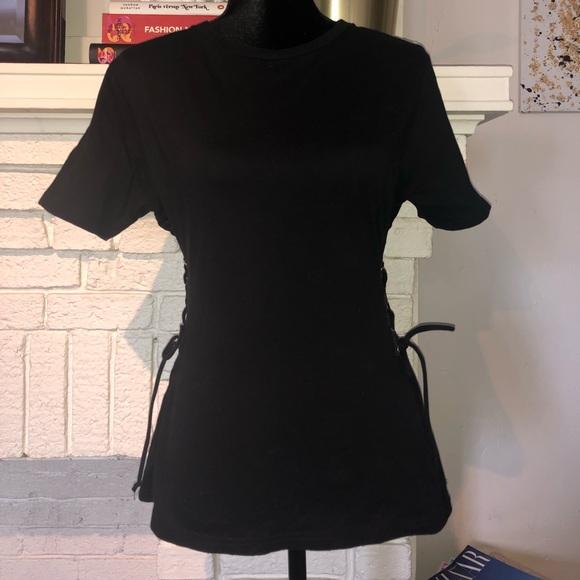 95aa11fdef9 Black Light Before Dark corset side tie tee. M_5c4f757345c8b3a4ed5bcb5a